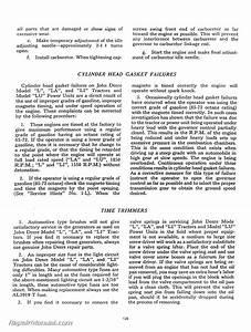 John Deere L La Li Y 62 Tractor Service Manual