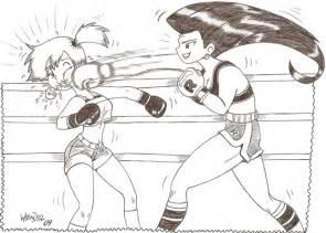 Drawing Anime Girl Punching