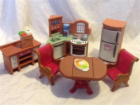 loving family kitchen furniture wonderful fisher price loving family doll house kitchen furniture lot must c ebay