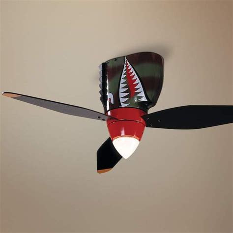 warplane tiger shark ceiling fan 187 gadget flow