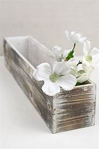White, Washed, 4x20, Planter, Boxes, Wood