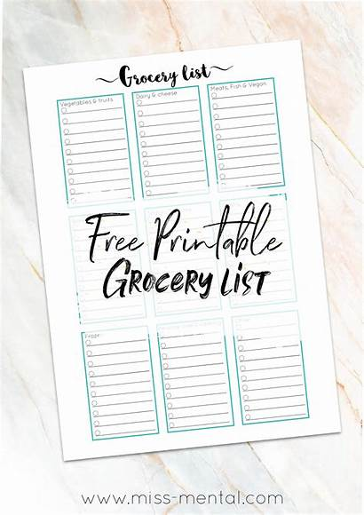 Printable Grocery Miss Mental Walmart Shopping Lists