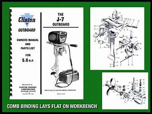 Clinton J7  U2013 5 0 H P  Outboard Motor Owners Manual And