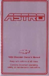 1986 Chevrolet Astro Van Owners Manual User Guide