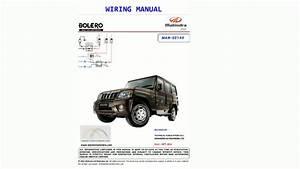 Mahindra Bolero Slx Sle Zlx Wiring Manual Diagram