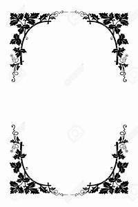Best Black And White Flower Border #15717 - Clipartion.com