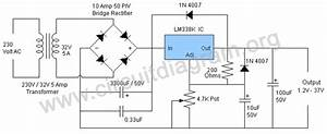 5a Adjustable Power Supply With Lm338
