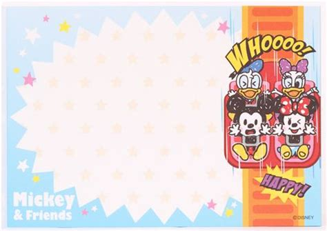 mickey mouse rollercoaster memo pad  kamio memo pads