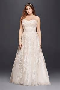blush plus size wedding dress length lace sweet sweetheart plus size wedding dress ivory blush 16w