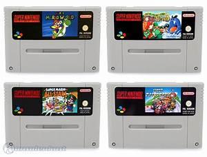 SNES Super Mario Spiele Set: Mario Kart + Mario World + Mario Allstars + Yoshis Island