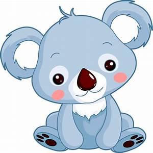 Stickers Petit Koala, Sticker Koala Bleu, Stickers Chambre Enfant, Autocollant Animaux Mignons