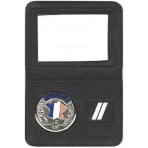 porte carte 2 volets nationale avec medaille et grade