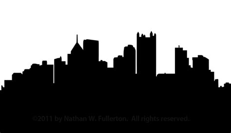 pittsburgh skyline silhouette dpi  images  clker