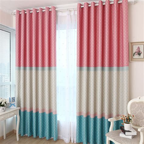 lovely polka dots patten curtain for room