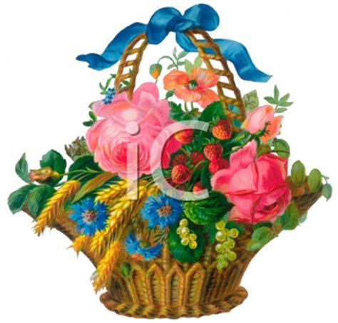 victorian flower basket clip art royalty  clipart