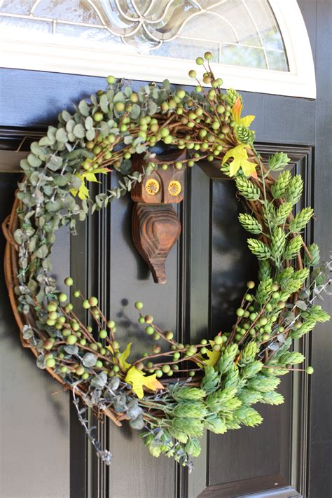 diy door wreaths 13 diy fall wreaths for your front door dailyscene com