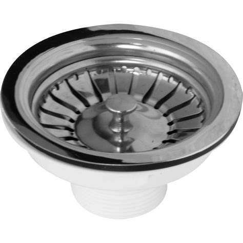 kitchen sink basket strainer waste stainless steel basket strainer waste 1 1 2 quot 8448