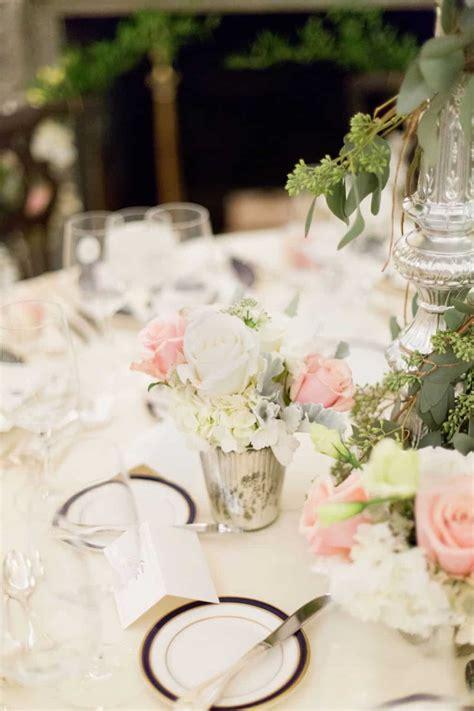 pink  white rose  eucalyptus wedding table floral