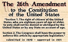 Image result for 26th Amendment to the U.S. Constitution