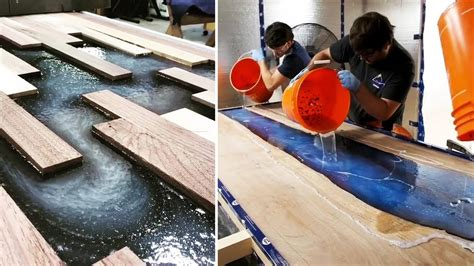 amazing epoxy resin  wood river table designs