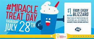 Dairy Queen Miracle Treat Day - Thursday, July 28 - SSM ...