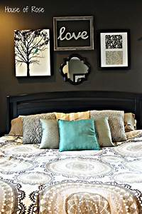Wall decor for master bedroom : Master bedroom wall makeover