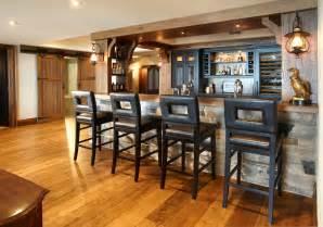 Rustic Basement Bar Design Ideas