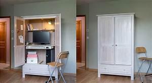 Comment Transformer Une Armoire Ancienne : diy comment cr er un meuble secr taire avec une armoire ~ Melissatoandfro.com Idées de Décoration