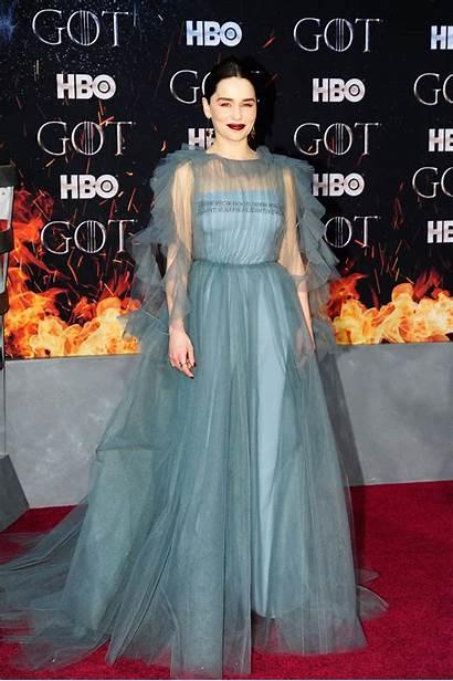 Thrones Premiere Season Carpet Games Clarke Emilia