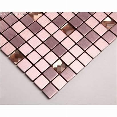 Mosaic Adhesive Tile Tiles Self Purple Pink