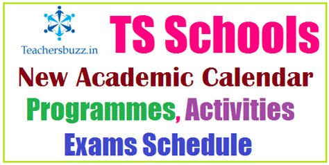 ts schools academic calendar programmes activities ps ups