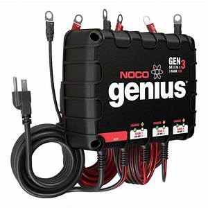 Noco - 3-bank 12a On-board Battery Charger