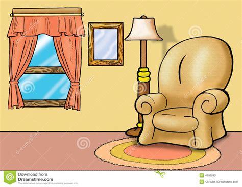 Sofa In Living Room Stock Illustration. Illustration Of