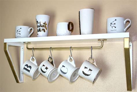 shelf of coffee diy coffee mug shelf