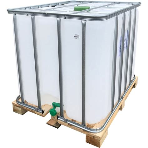 Caractéristiques cuve en pvc, d'une contenance de 1000 litres. Cuve ibc 1000 l couleur naturelle et vert blanc 1000 l   Leroy Merlin