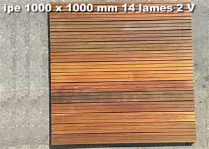 dalle caillebotis en bois exotique ipe 1000 x 1000 x 38 With dalle de terrasse en bois 1mx1m