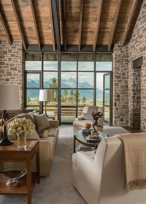 luxury mountain west houses  montana architecture