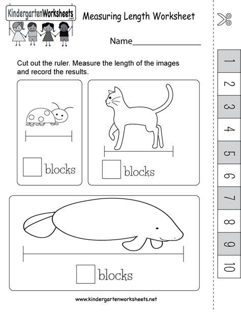 measuring length worksheet   easy ruler