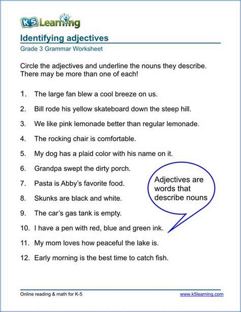 grammar worksheets  elementary school printable