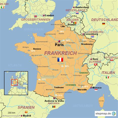 stepmap frankreich karte landkarte fuer frankreich