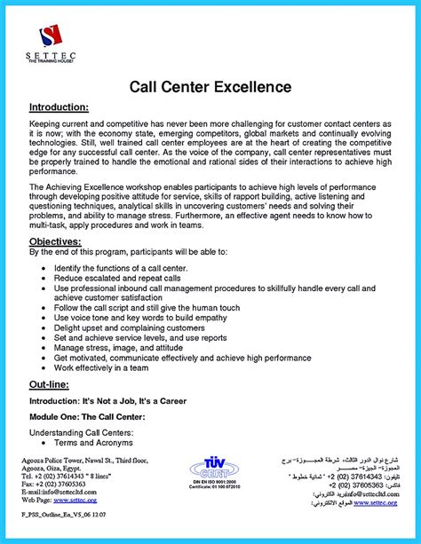 Sle Resume Call Center by Cool Information And Facts For Your Best Call Center