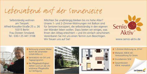 Senio Aktiv 10315 Berlin Lichtenberg Friedrichsfelde