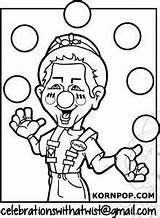 Coloring Juggling Sheet sketch template