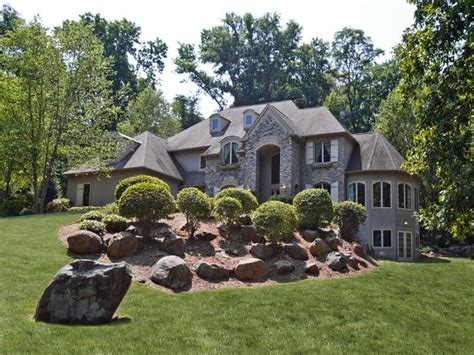hill landscaping estate homes landscape kurfiss secluded acre