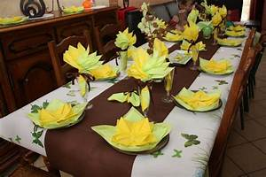 Decoration De Table Pour Anniversaire Adulte : d coration de table jaune ~ Preciouscoupons.com Idées de Décoration