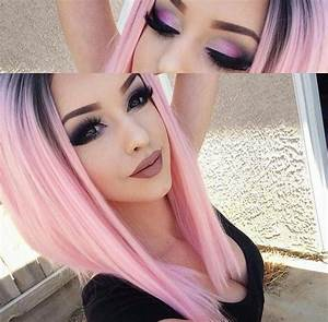 pink fade hair Purple Violet Red Cherry Pink Bright Hair ...
