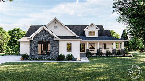 story farmhouse house plan fair acres