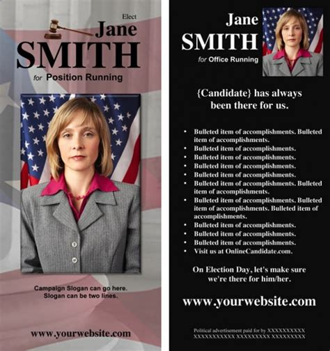 candidate  offering political brochure templates