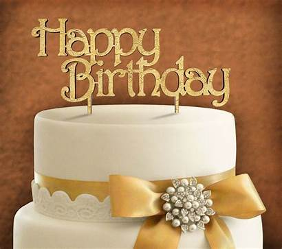 Happy Birthday Cake Topper Wooden