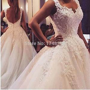 New arrival pearls lace wedding dresses 2016 backless for Wedding dresses with pearls and lace